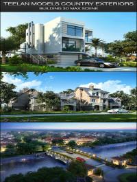 Teelan Models Country Building Residential Scenes