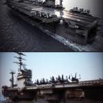 USS Nimitz Aircraft Carrier & USNS Patuxent