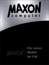 Maxon City street models for C4d