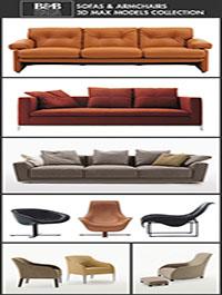 B&B Italia Furniture 3D Models for Interior Design