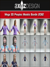 AXYZ Design Mega 3D Peoples Models Bundle 2012