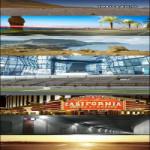 10 HDRI panoramas with backplates from HDRI4Free