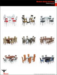 10ravens 3D Models collection 024 Modern dining furniture 01