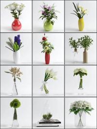 3D Models Table Vases Flower Collection