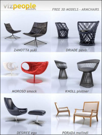 VizPeople Armchairs 3D Models