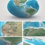 3Docean Planet Earth Realistic 3D World Globe