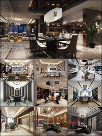 Modern Kitchen & Restaurant Style 3D66 Interior 2015 vol 2
