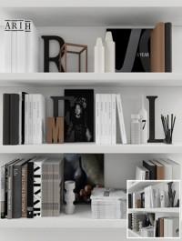 Decorative set with books