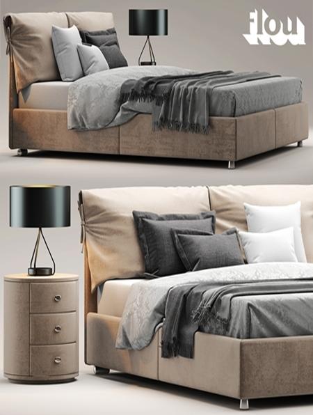 bed flou letto nathalie. Black Bedroom Furniture Sets. Home Design Ideas