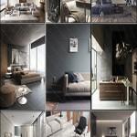 12 Corona Interior Scenes for 3ds max