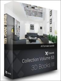 CGAxis Models Volume 53 3D Books III