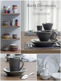 Marin Dinnerware collection by Crate Barrel