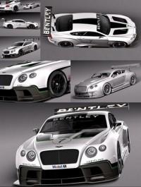 3d Model Bentley Continental GT3 2014 RaceCar