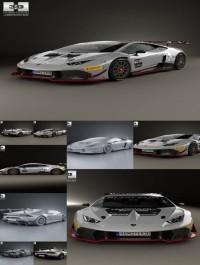 Hum3D Lamborghini Huracan (LP 620-2) Super Trofeo 2014 3D model