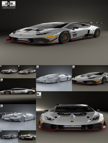 hum3d lamborghini huracan lp 620 2 super trofeo 2014 3d model. Black Bedroom Furniture Sets. Home Design Ideas