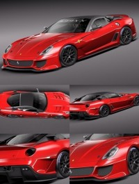 TurboSquid 3d Model Ferrari 599 XX