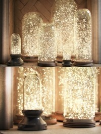 RH French Glass Cloche and Starry string lights
