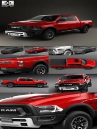 Hum3D Dodge Ram 1500 Rebel 2015 3D model