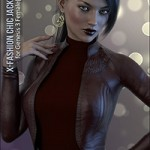 X-Fashion Chic Jacket for Genesis 3 Female(s) by xtrart-3d