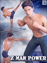 Z Man Power - Poses for the Genesis 3 Male(s)