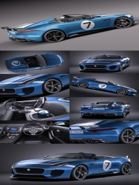 Jaguar Project 7 Concept 2016 VRAY 3D Model