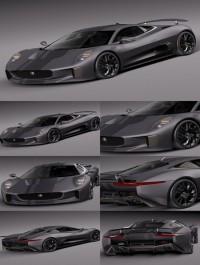 Jaguar C-X75 2014 3D Model
