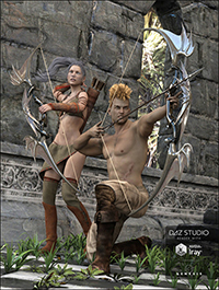 Archery 2 Poses for Genesis 3 Male & Female
