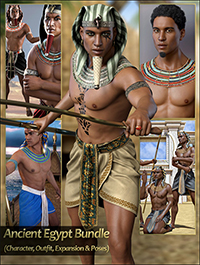 Ancient Egypt Bundle Character Outfit Expansion and Poses