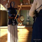Kendo Dojo and Outfit for Genesis 3 Female(s)