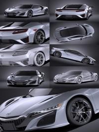 Honda NSX 2017 VRAY 3D Model