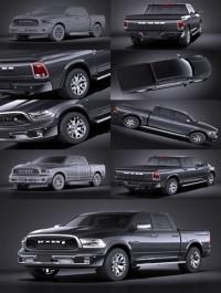HQ LowPoly Dodge RAM 1500 Laramie Limited 2015 VRAY 3D Model