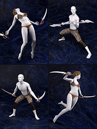 Legendary Adventure Poses for Genesis 2 and Genesis 3 Male(s) and Female(s)