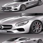 3D Model Mercedes Benz AMG GT 2016