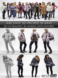 Archviz People Scanned 3D Models Collection