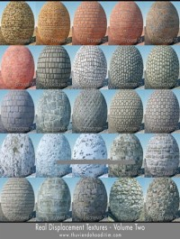 Real Displacement Textures Volume Two