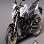 TurboSquid Yamaha FZ8 Fazer 2011 3d Model