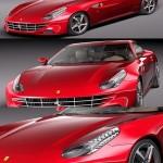 Ferrari FF 2012 3d Model