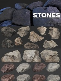 Photoreal Stones 3D