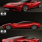 3DHumster Ferrari F12 Berlinetta 2012 3D Model