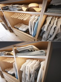 Clothes in the closet section C 3-4