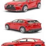 Lexus NX 200 Turbo 3D Model