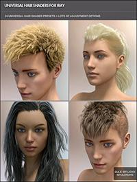 Universal Hair Shader for Iray