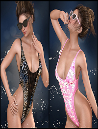 7th Ave: OnePiece Thong for Genesis 8 Females by 3-DArena