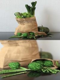 Set of green vegetables