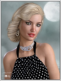 Baroness Hair for Genesis 3 Female(s)