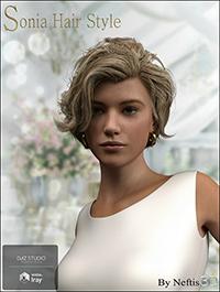 Sonia Hair for Genesis 3 and Genesis 8 Female(s)
