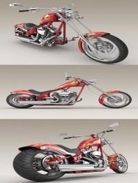 Big Dog K9 Chopper Motorcycle 3d Model