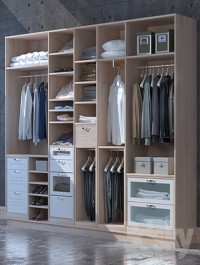 Set for clothes and shoes cabinet