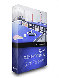 Sport Equipment 3D Models Collection – Volume 88