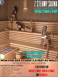 Z Steamy Sauna + Poses - Daz and Poser by Zeddicuss